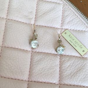 Gold Juicy Couture Earrings with Rhinestone